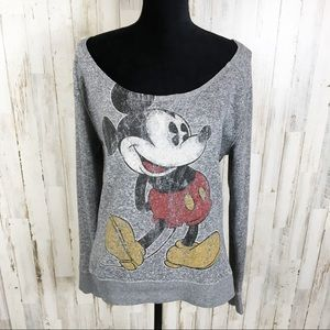 Disney Mickey Mouse Off Shoulder Long Sleeve L